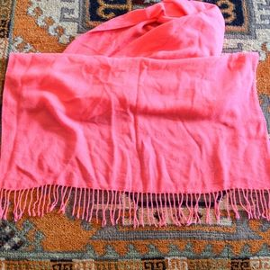 Forever 21 Accessories - Forever 21 Electric Pink Tassel Scarf